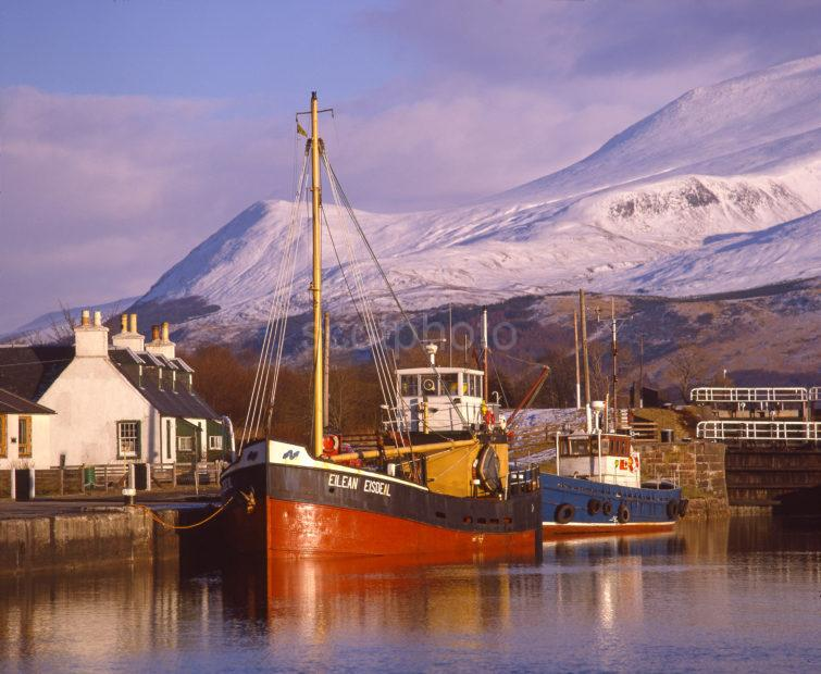 Winter View Towards Ben Nevis From The Corpach Basin Corpach Inverness Shire