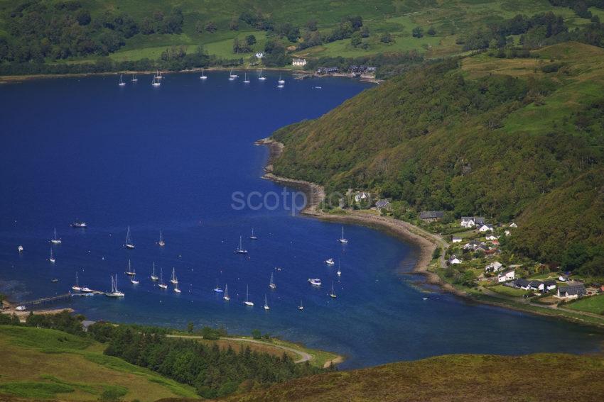 Loch Melfort And Kilmelfort From Hillside