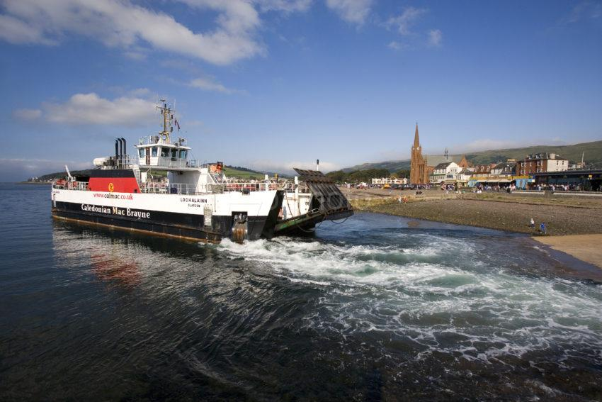 Largs Cumbrae Ferry Departs Largs