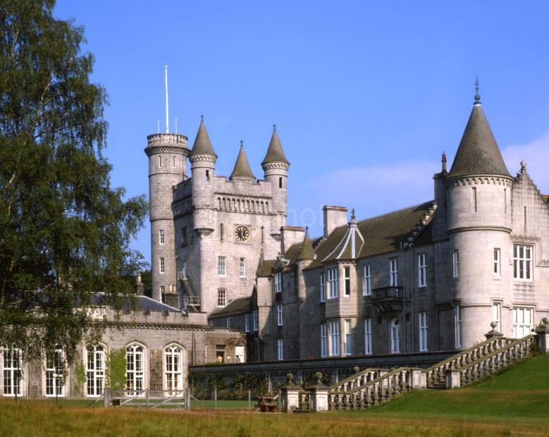 Balmoral Castle Main Tower Baronial Style From Grounds Royal Deeside Aberdeenshire