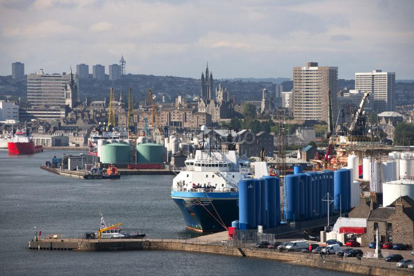 Great Shot Of Aberdeen Harbour From Torry
