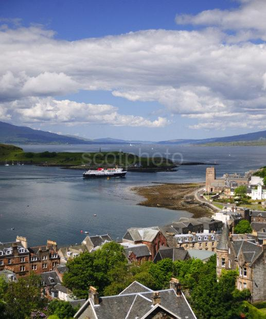 Lovely Oban Bay With Departing Mull Ferry 2012