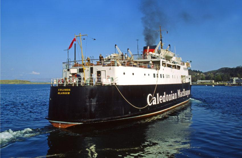 B728 MV Columba Departs Oban Argyll 70s