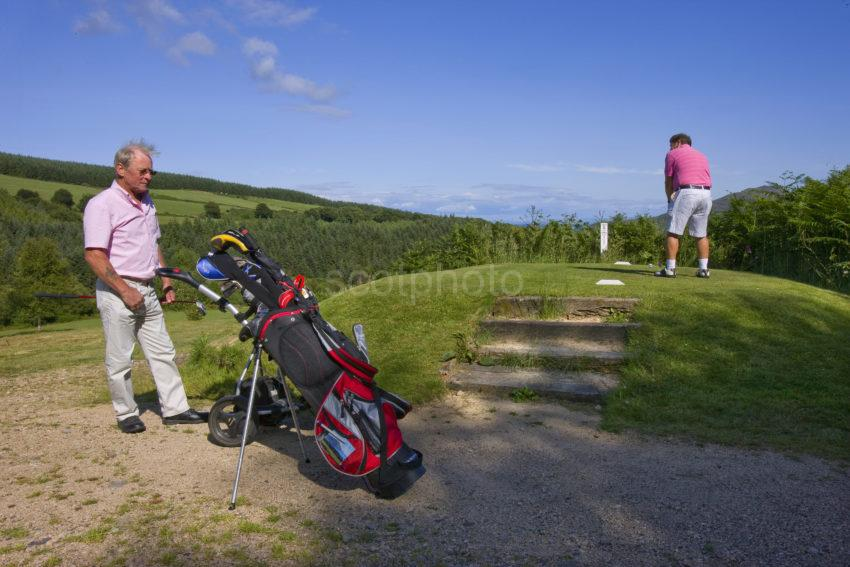 I5D8568 Golfers At Lamlash Golf Course ARRAN