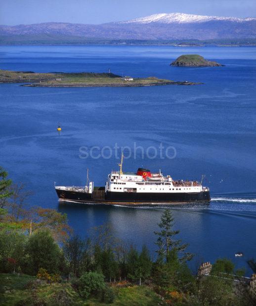 MV Columba Sails Sound Of Kerrera Nr Oban Argyll
