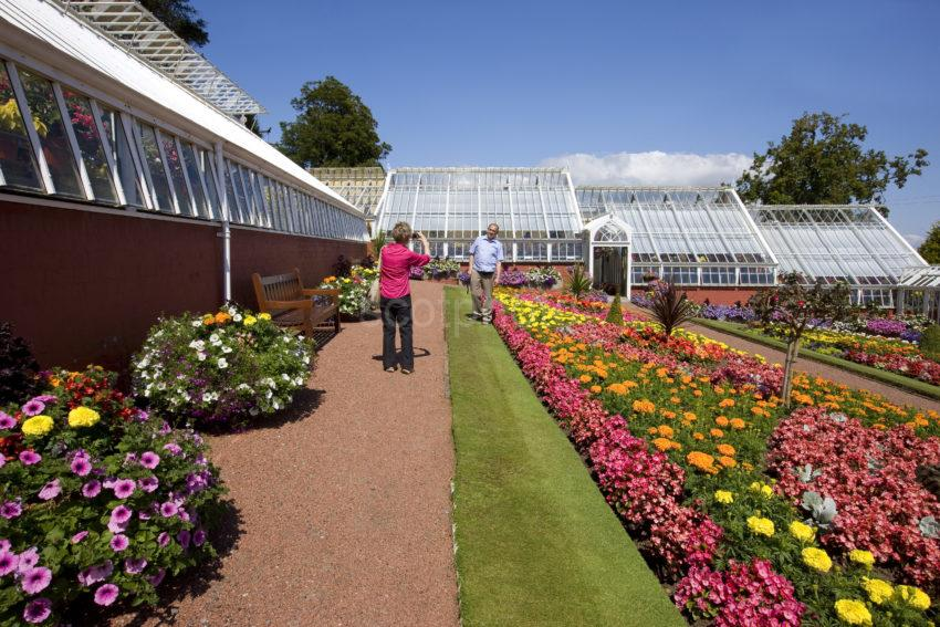 Holidaymakers Enjoying Ardencraig Gardens Rothesay Bute