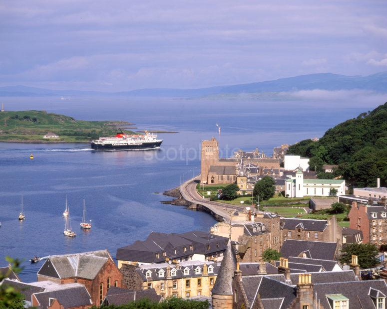 View Across Oban Bay From Macaigs Tower