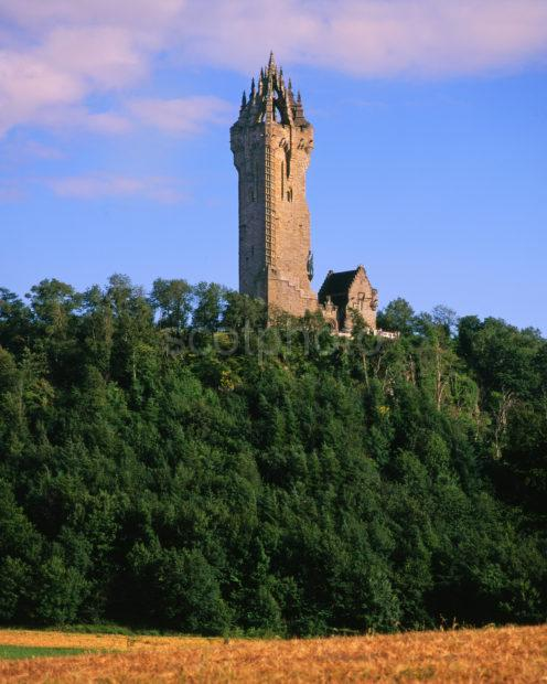 The Wallace Monument On Abbey Craig Stirling