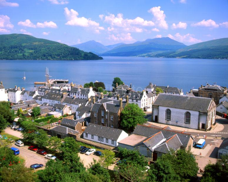 Inveraray From The Bell Tower On Loch Fyne