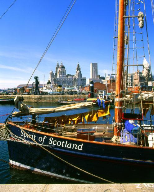 Tall Ship At Albert Dock