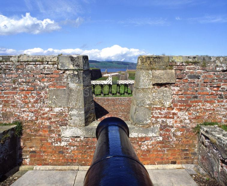Battlements At Fort George On The Moray Firth