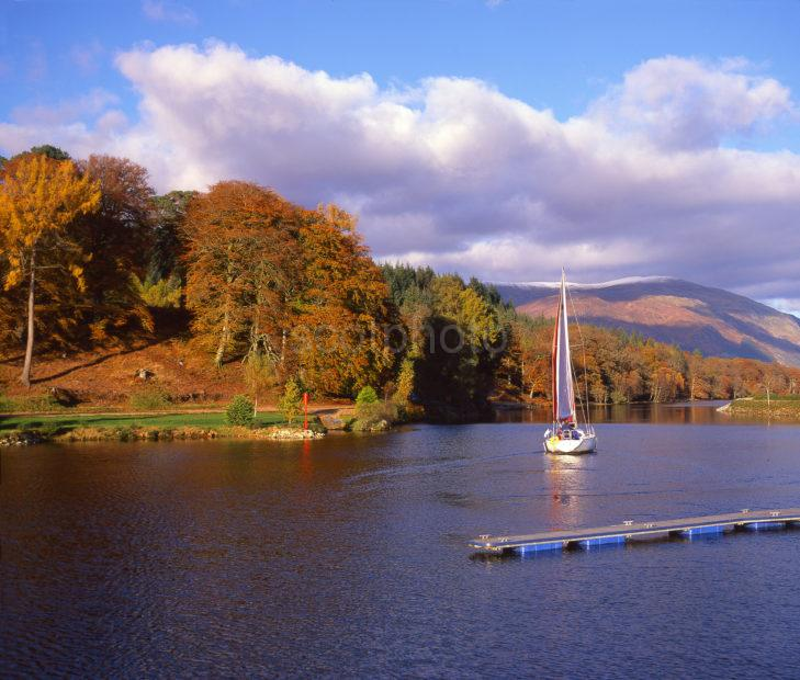 Autumn Scene On The Caledonian Canal At Gairlochy Loch Lochy Great Glen