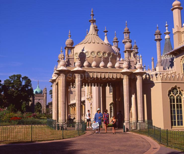 The Royal Pavilion Seaside Palace Of King George IV With Its Indian Exterior And Chinese Interior Brighton West Sussex