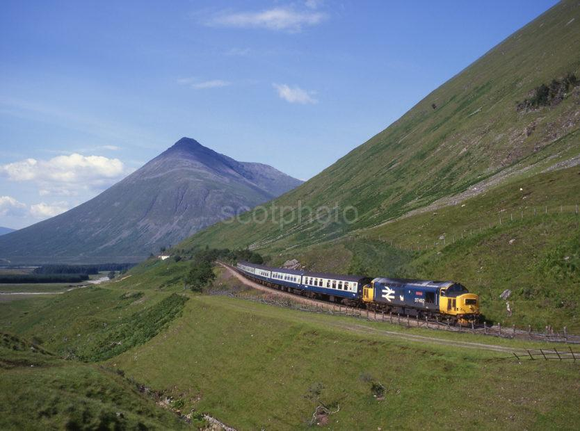 CLASS 37 WITH BEN DORAIN IN VIEW Fort William Glasgow Line