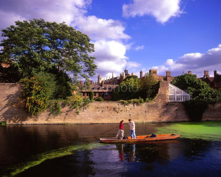 Punts On The River Cam Cambridge