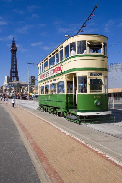 Vintage Tram At Blackpool
