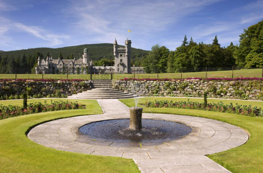 0I5D0097 Balmoral Castle From Gardens Aberdeenshire