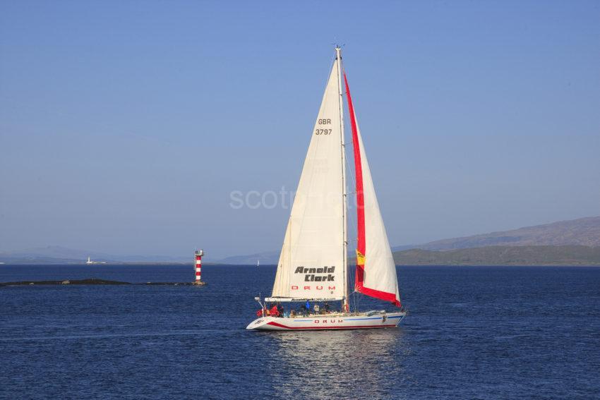 3X8G1666 Beautiful Yacht Passes North End Of Kerrera