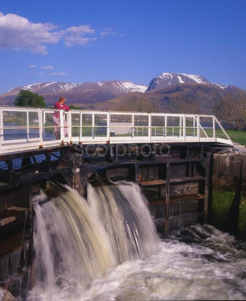 Ben Nevis From Caledonian Canal At Corpach Lochaber