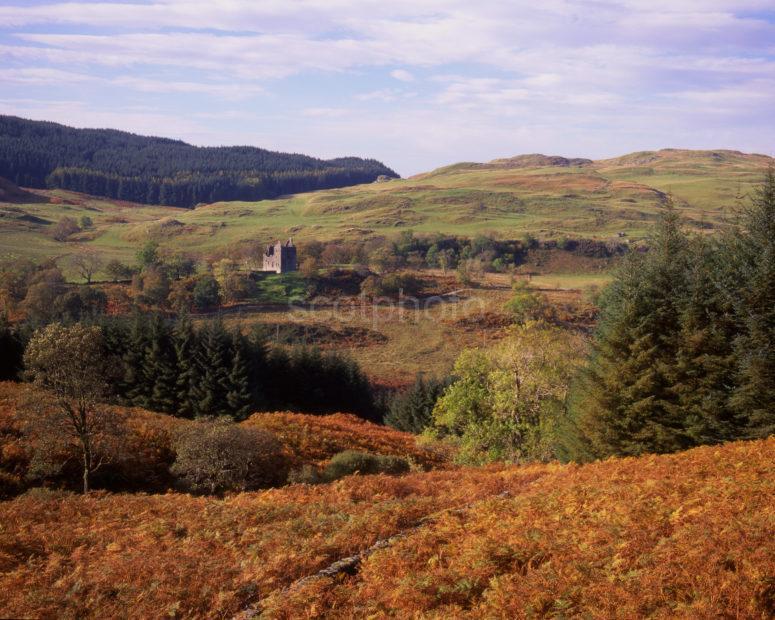 Autumn View Towards Carnasserie Castle Nr Kilmartin Argyll