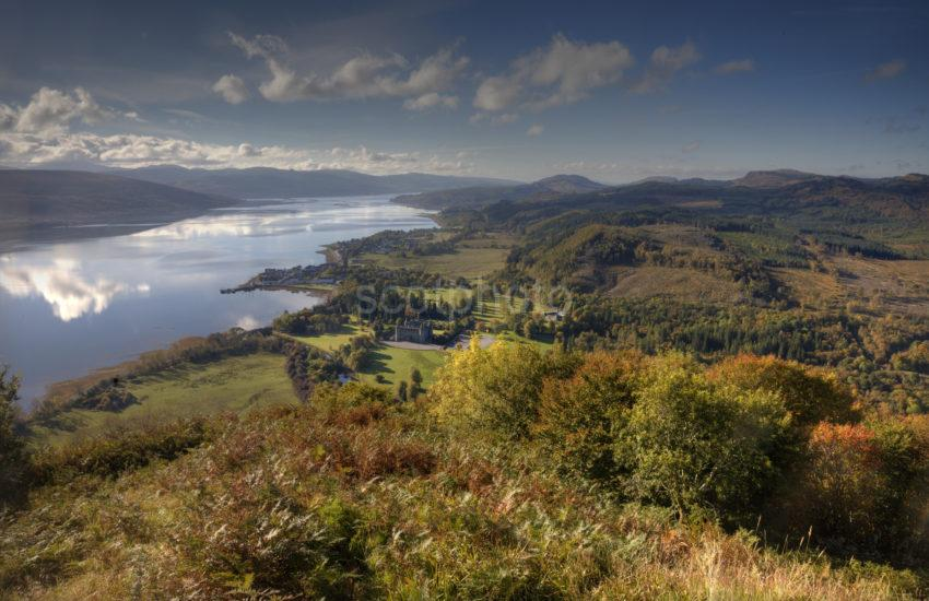 0I5D5977 Inverary And Loch Fyne From Above