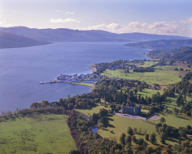 Looking Down Onto Inveraray And Loch Fyne From