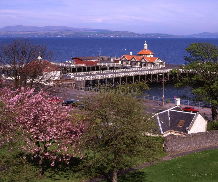Springtime In Dunoon Towards Pier From Gardens Clyde Argyll