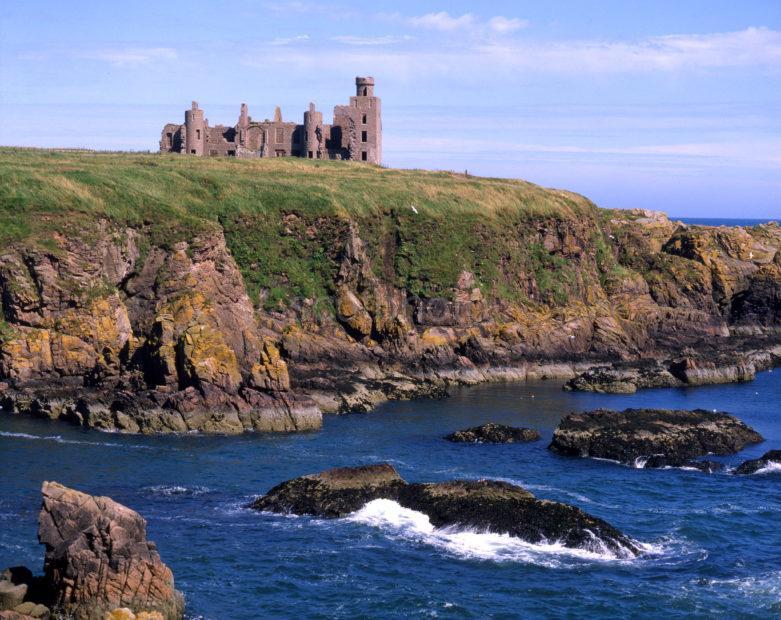 Mighty Ruins Of Slains Castle Overlooking Cruden Bay Aberdeenshire