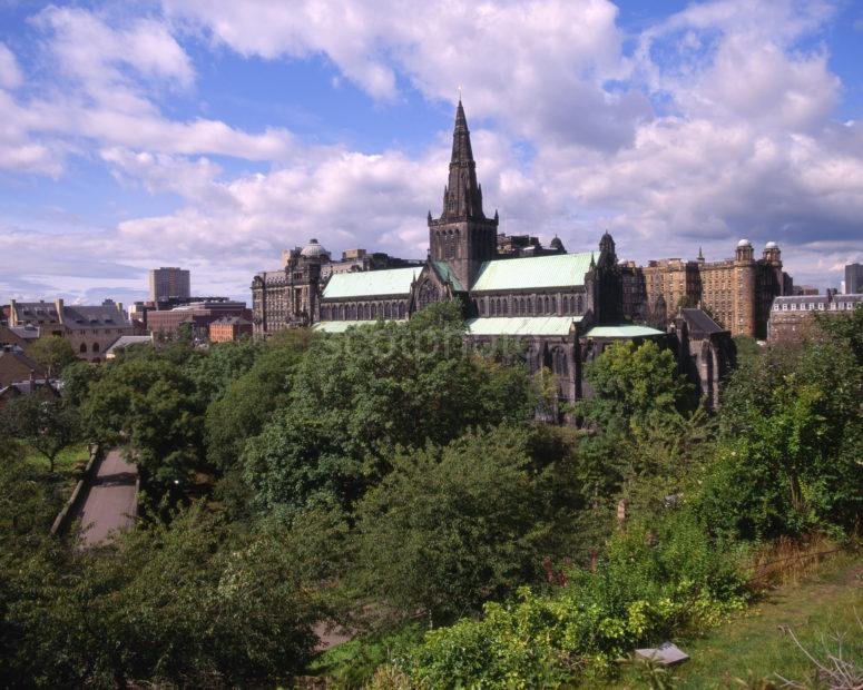 Glasgow Medieval Cathedral Or St Mungos Cathedral City Of Glasgow