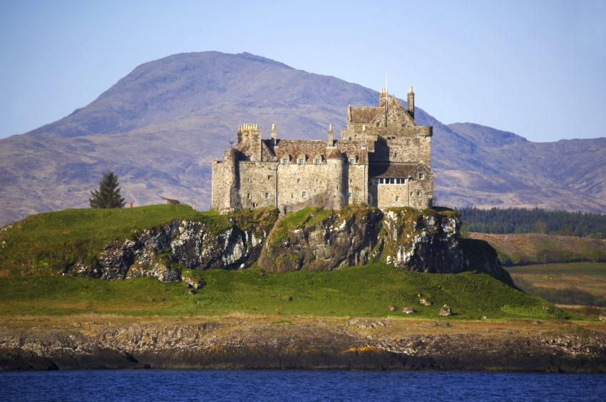 Duart Castle From Ferry Island Of Mull