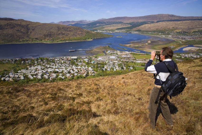 Hill Walker Above Fort William