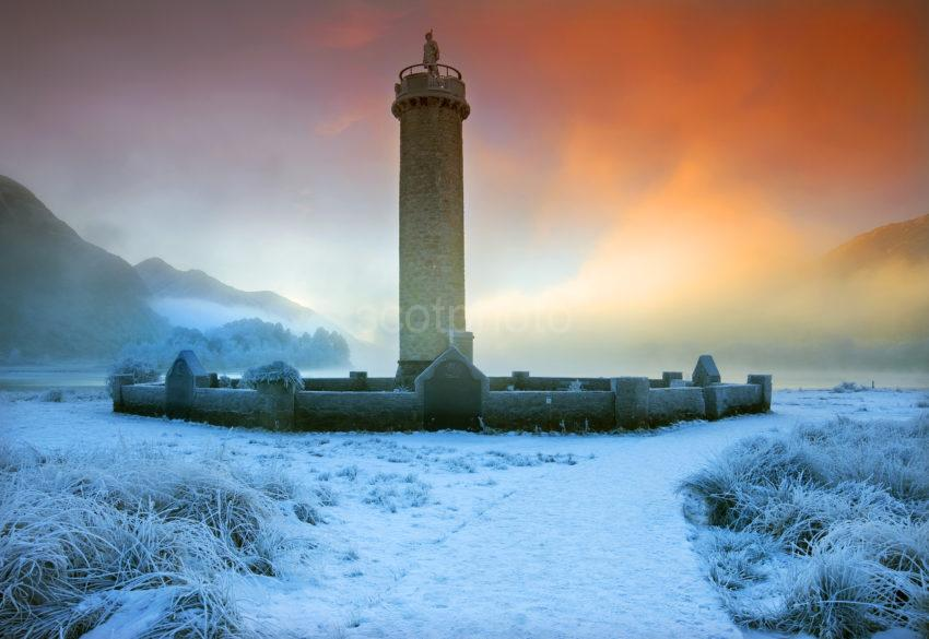 Winter Sunset Glenfinnan