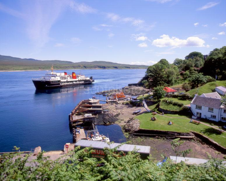 MV Isle Of Arran Arrives At Port Askaig Island Of Islay