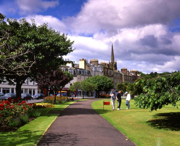 The Colourful Espalanade Gardens At Rothesay Island Of Bute