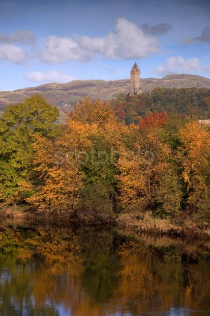 Portrait Of Wallace Monument From River Forth