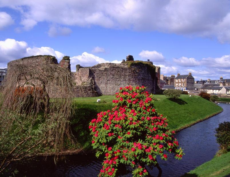 Springtime View Of Rothesay Castle And Moat Rothesay Isle Of Bute Argyll