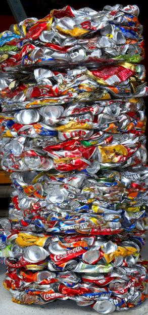WY3Q1270 Compressed Cans For Recycling