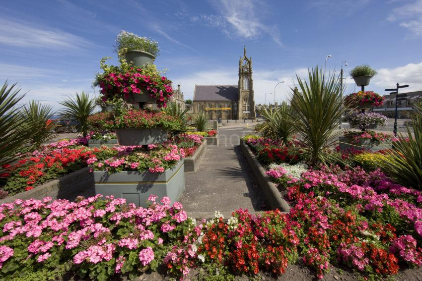 0I5D0158 Colourful Scene Buckie Town Centre Morayshire