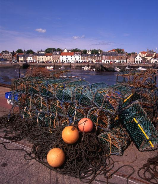 View Of Anstruther Known As Ainster From The Pier East Neuk Fife