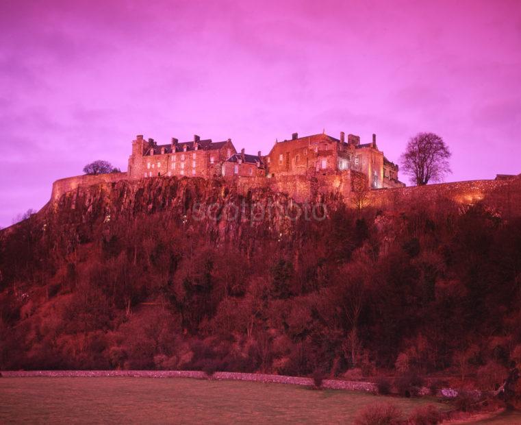 Stirling Castle Pink Sky
