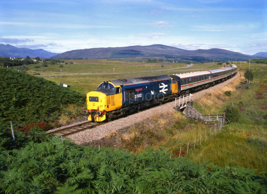 Class 37 412 With West Highlander Nr Spean Bridge