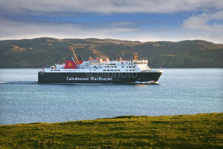 MV Isle Of Lewis Nears Stornoway Harbour Lewis