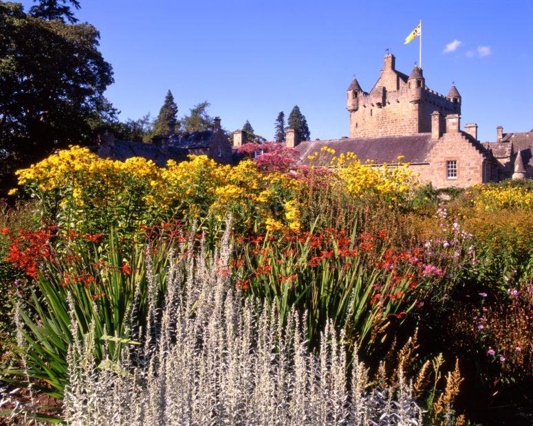Cawdor Castle From M Agnificent Gardens Cawdor Nairnshire