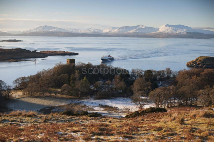 DSC 0039 Clansman From Battleship Hill With Hills Of Mull And Dunollie Castle