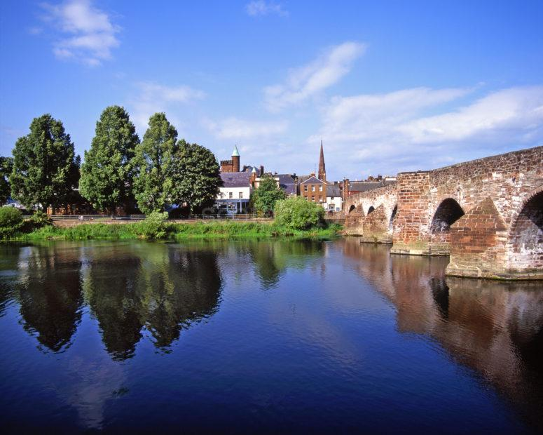 The Old Bridge Across River Nith In Dumfries