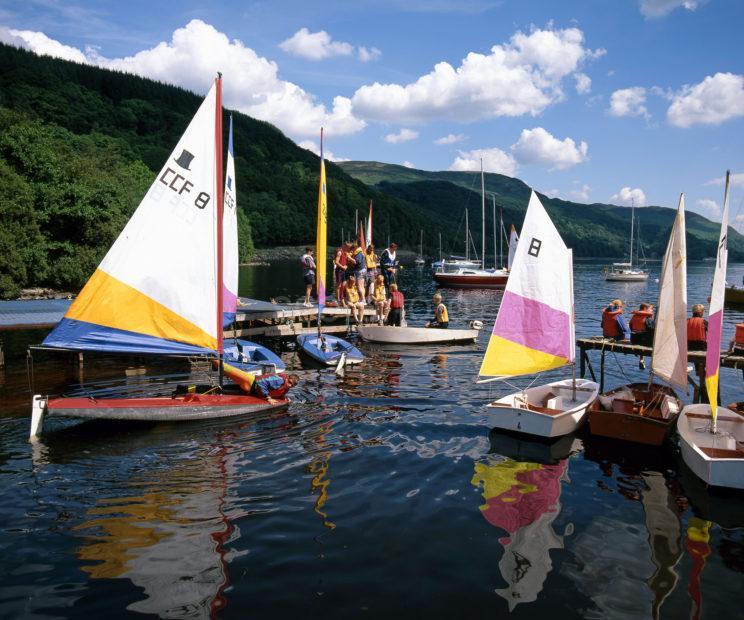 Sailing On Loch Earn Perthshire