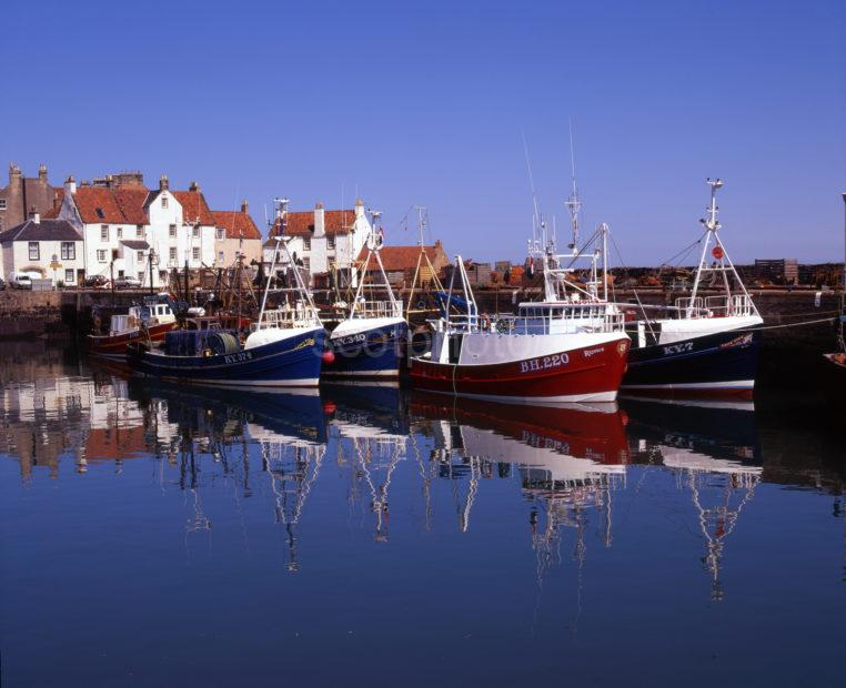 Fishing Boats At Rest Pittenweem Harbour East Neuk Fife