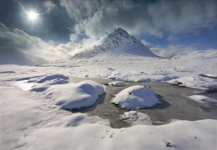 Spectacular Winter View Buachaille Etive Mhor Glencoe