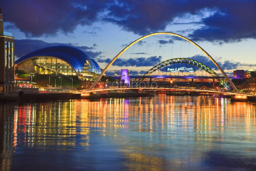 Tyneside At Dusk Newcastle
