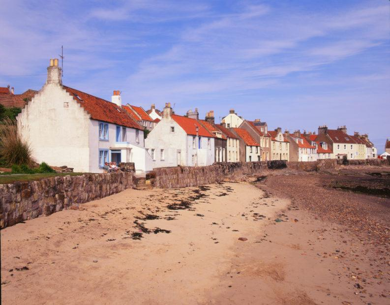 Pittenweem Seafront Houses Fife
